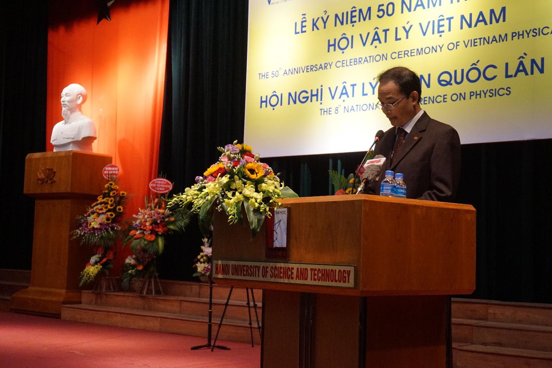 GS.TS Nguyễn Đại Hưng phát biểu tại lễ Kỉ niệm