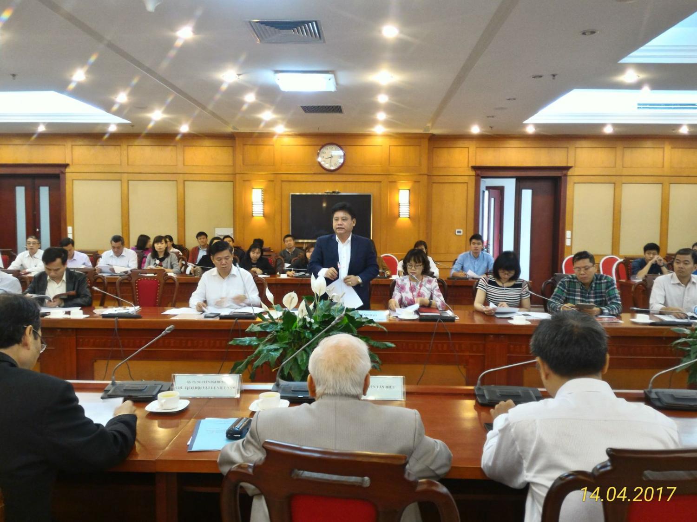 Ông Lê Quang Thành, Vụ trưởng Vụ Khoa học Xã Hội và Tự nhiên, Bộ Khoa học và Công nghệ phát biểu khai mạc Hội thảo